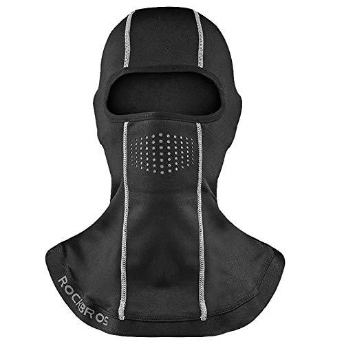 kentop Pasamontañas Moto Negro Balaclava Invierno Esquí Máscara motocicleta máscara Licra resistente al agua resistente al viento Thermal universal tamaño para hombre mujer, Stil-8, 24*33CM