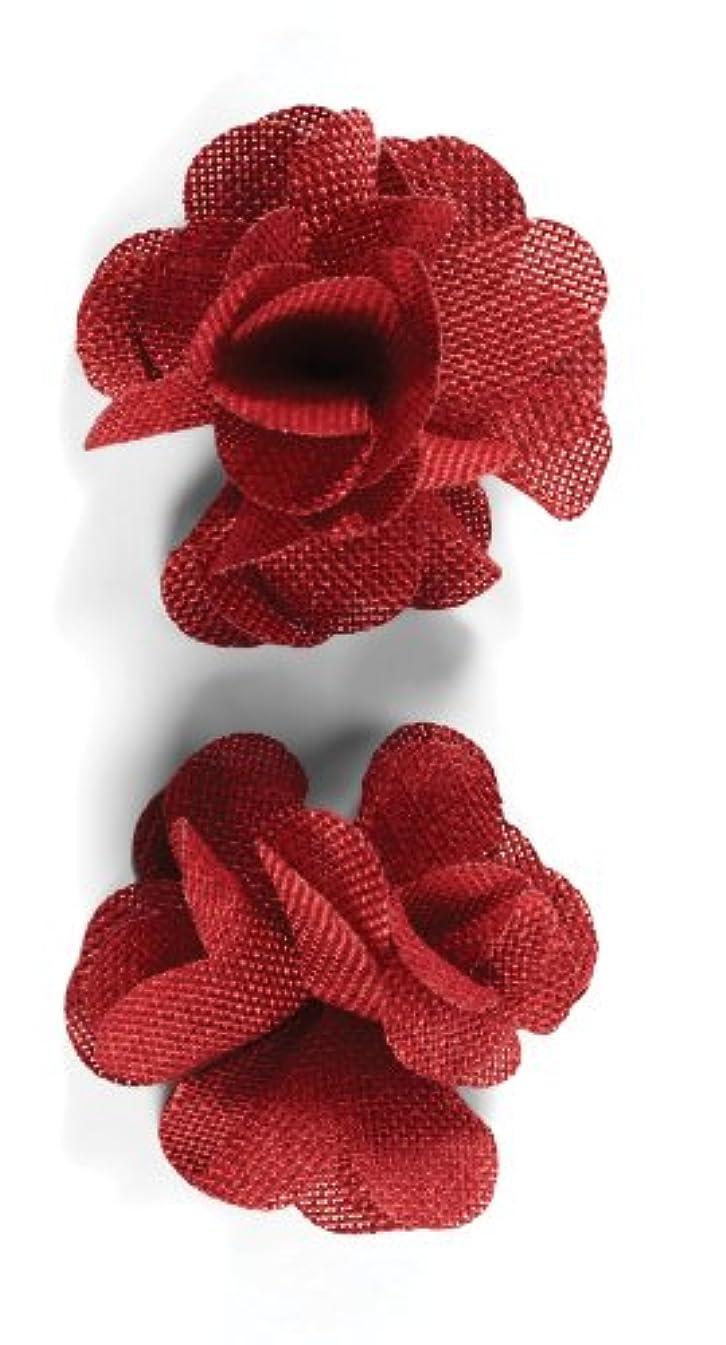 Jolee's Boutique Dimensional Stickers, Red Burlap Flower