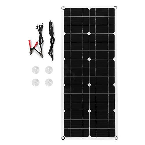 Ymiko 30W 18V Pannello Solare Starter Kit antiruggine Solare Pannello Solare Esterno Bordo Portatile silicio monocristallino per la Ricarica del Telefono dispositivi Esterni