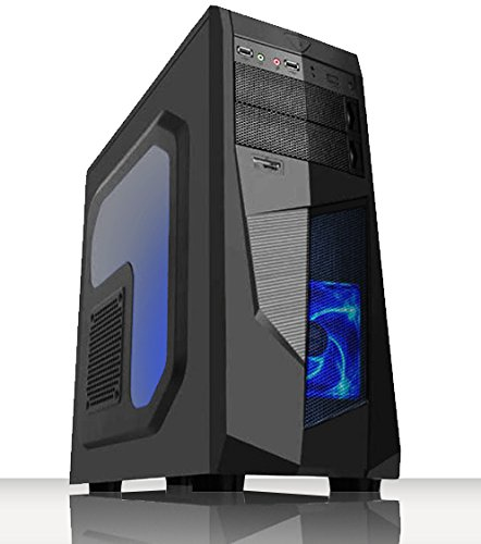 VIBOX Black-Ice LA12-236 Gaming PC Computer mit War Thunder Spiel Bundle, Windows 10 OS, 22 Zoll HD Monitor (4,2GHz AMD A12 Quad-Core Prozessor, Radeon R7 Grafik Chip, 16Go DDR4 2133MHz RAM, 4TB HDD)