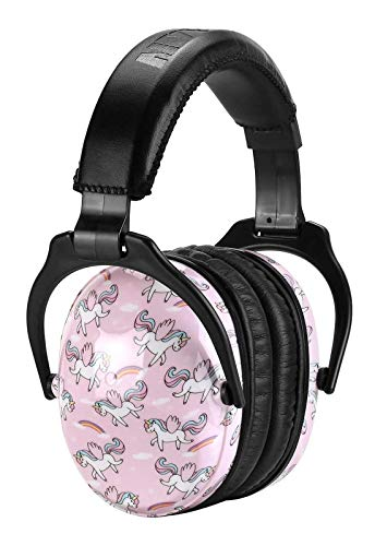 ZOHAN EM030 [Upgraded] Kids Ear Protection Safety Ear Muffs with Unicorn Print, Noise Reduction Hearing Protectors for Toddlers, Children and Young Teens, Ideal for Air Shows, Fireworks