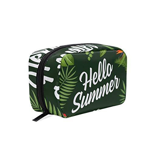 Trousse de toilette pour cosmétiques, maquillage, trousse de toilette pour sac à main, organiseur avec compartiments accessoires de voyage, mini femme Hello Summer