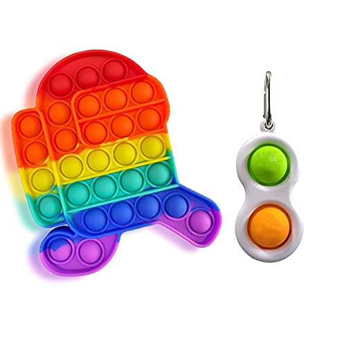 EXZ Push Bubble Toys Set, Fidget Sensory Toys, Sensory Therapy Toys, Mini Stress Relief Anti-Anxiety Autism Hand Toys for Kids Teen Adult