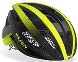Rudy Project Venger - Casco para bicicleta de carreras, color amarillo fluorescente y negro mate, circunferencia de la cabeza: 51-55 cm