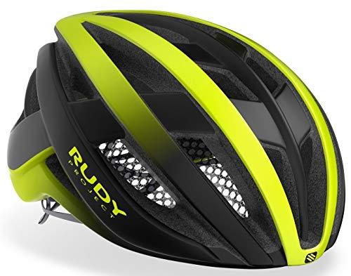 Rudy Project Venger - Casco da bici da corsa, colore: giallo fluo nero opaco, circonferenza testa: 51-55 cm