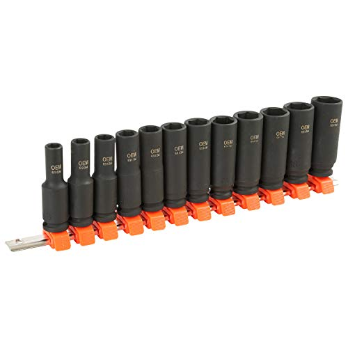OEMTOOLS 25588 12 Piece 3/8 Inch Deep Impact Socket Set (Metric), Socket Sets, 3/8 Socket Set, 3/8 Impact Socket Set, Metric Socket Set, Socket Metric