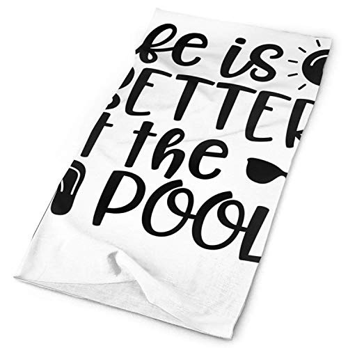go afk plz Das Leben ist besser an der Pool Sun-Maske, Hals Gamasche, Kopfbedeckung, magischer Schal, Stirnband, Stirnband für die Jagd, Radfahren, Motorradfahren, Laufen