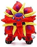 ALXY Red Solgaleo Plush Toy, Soft Anime Arora Sunburst Stuffed Animal Dolls, Birthday Gift for Children Kids 30cm