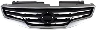 CarPartsDepot, Sedan Front Grille New Black Frame Chrome Shell, 400-361695 NI1200236 62070ZX00A