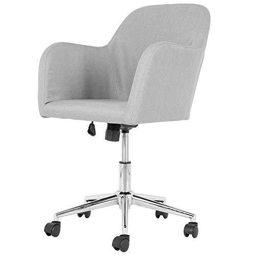 EBTOOLS Drehstuhl, Stoff, höhenverstellbar, Schreibtischstuhl mit Rollen, Armlehnen, bequemer Sitz für Zuhause oder Büro