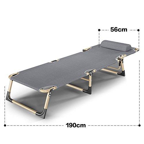Fauteuils inclinables Feifei Lit Pliant de lit de Couchage de Bureau Lit Pliant de de Bureau Pliant (Taille : 56 * 190cm)