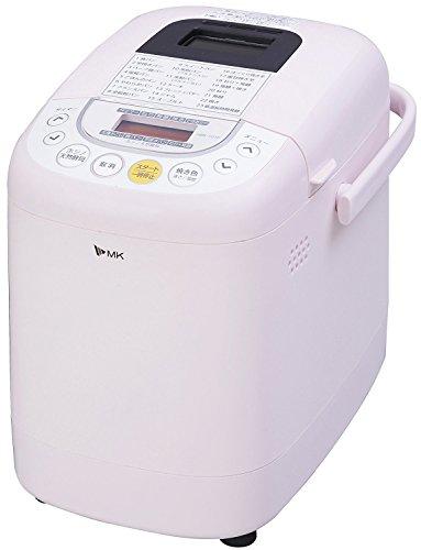 エムケー精工(MK精工) 自動ホームベーカリー 「ふっくらパン屋さん」 0.5斤/1斤選択 (米粉パン・天然酵母パン対応) 「残りごはんでパンがつくれる」 ピンク HBK-101P
