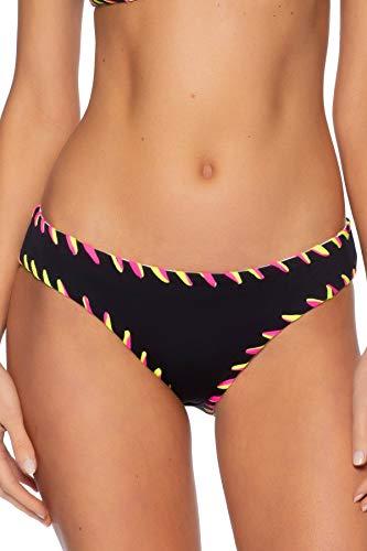 Becca by Rebecca Virtue Women's Camille Hipster Bikini Bottom Black/White L