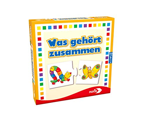 Noris 608985662 Was gehört zusammen, das beliebte Kinderspiel für Groß und Klein, Reise und Mitbringspiel, ab 3 Jahren