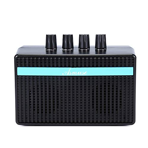 Asmuse 3W Mini Bass Amp Guitar Amplifier headphone practice with Distortion Effect by USB Charging