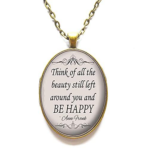 Thik of All The Halskette mit Anhänger mit Zitat - inspirierendes Schmuck-Geschenk für Frauen