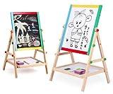 VSTON Tablero de dibujo 2 en 1, mesa de trabajo, caballete de pintura...