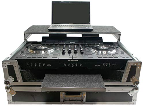 Harmony HCNS7LTWFXTR Flight Glide Laptop Stand Combo DJ Case Compatible with Numark NS7 III