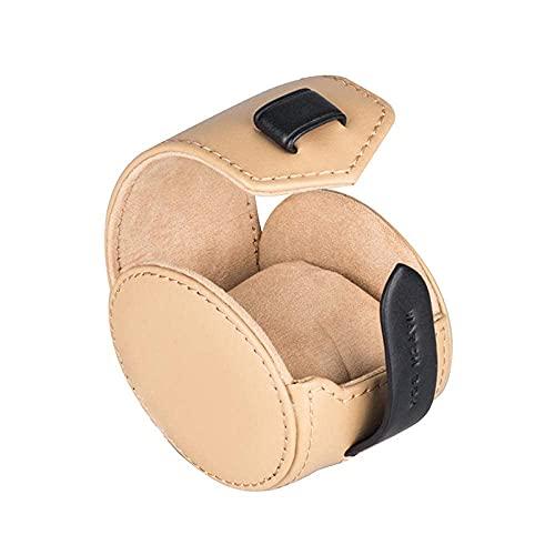Caja de Reloj Cajas Hombres Primera Capa de Cuero Mesa única Bolsa de Reloj portátil Bolsa de Almacenamiento de Reloj de Viaje 90 * 65 * 75 Mm
