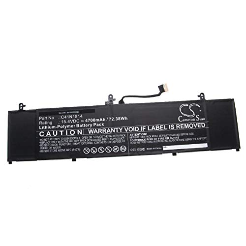 vhbw Akku kompatibel mit Asus ZenBook 15 UX533FD-A9030T, UX533FD-A9082T, UX533FD-A9083T Notebook (4700mAh, 15,4V, Li-Polymer)