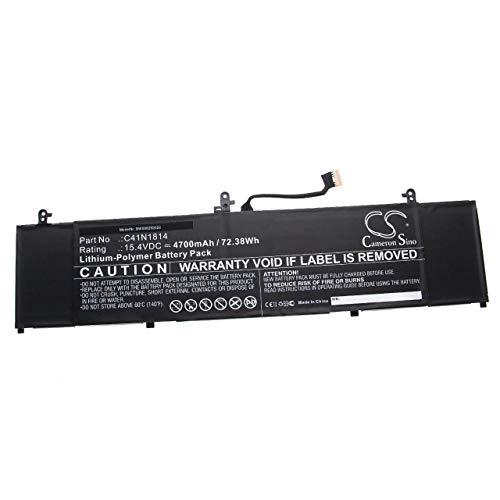 vhbw Batería Compatible con ASUS ZenBook 15 UX533FD-A8067T, UX533FD-A8068T, UX533FD-A8089T Notebook (4700mAh 15,4V polímero de Litio)
