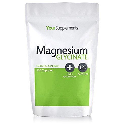 Your Supplements - Glicinato de Magnesio - 120 Cápsulas