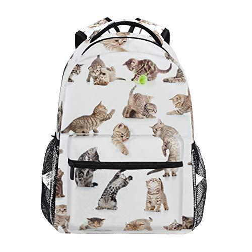 Divertente zaino per la scuola con gattino, zaino da viaggio per studenti, ragazzi e ragazze