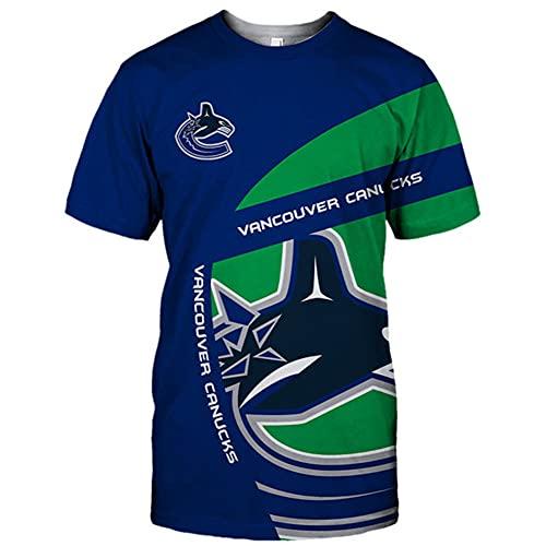 JesUsAvila Herren Kurzärmelig Sport T-Shirt 3D Gedruckt Van.cou.ver Can.ucks Nhl Eis Eishockey Jersey Atmungsaktiv Sweatshirt Weste/A / 4XL