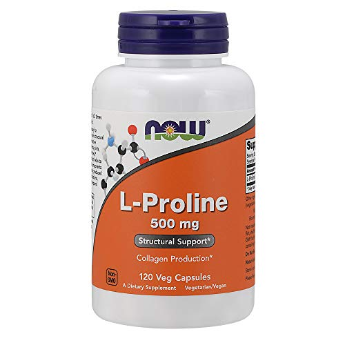 Now Foods | L-proline | 500 mg | 120 capsules