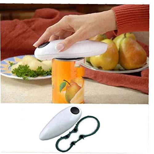Amoyer Mini One Touch Comodo Automatico Elettrico Barattolo di Latta Bottle Jar apriscatole Hands Free Can Apriscatole Sicuro