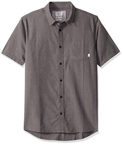 Quiksilver Herren Magnetic ROLL Short Sleeve Woven TOP Hemd, Leiser Lampenschirm mit Magnetrolle, Klein
