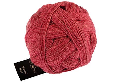 Schoppel Admiral Hanf Fb. 2443 Roter Pfeffer, Bio Sockenwolle Socken zum Stricken oder Häkeln