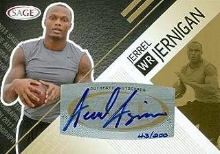 Autograph Warehouse 99687 Jerrel Jernigan Autographed Football Card Troy 2011 Sage Rookie No. A20