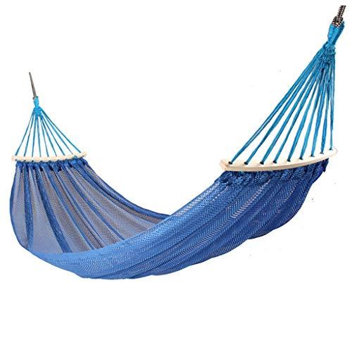Columpio Jardín Solo Hamaca Doble al Aire Libre Swing Ligero de Malla de Hielo de Malla con Hielo portátil Portátil Interior y al Aire Libre Silla Colgante (Azul) Columpio Exterior (Color : A)