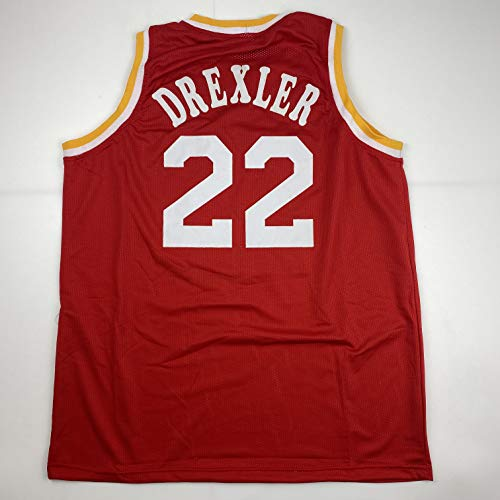 Unsigned Clyde Drexler Houston Red Custom Stitched Basketball Jersey Size Men's XL New No Brands/Logos