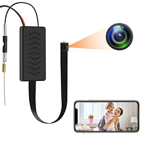 UYIKOO Minikamera WiFi HD 1080P WLAN Kleine Kamera Tragbare Drahtlose IP Mikrokamera mit Bewegungserkennung und Schleifenaufzeichnung für die Heimsicherheits-Nanny Cam-Unterstützung App-Fernansicht