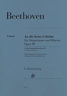 An die ferne Geliebte op. 98 - Original version for High Voice - High Voice and Piano - (HN 579)