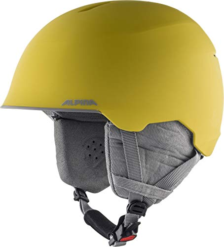 ALPINA MAROI JR Skihelm, Kinder, curry-grey matt, 53-57