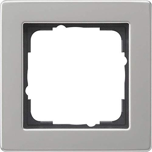 Gira Komplett-Set Klappdose – KlappSteckdose 0454600 inkl. 1fach Rahmen und Dichtungsset IP44, wassergeschützt -edelstahl- Klappsteckdose – Kinderschutz