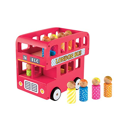 Early Learning Centre – 148285 – Doppeldecker-Bus aus Holz, Mehrfarbig