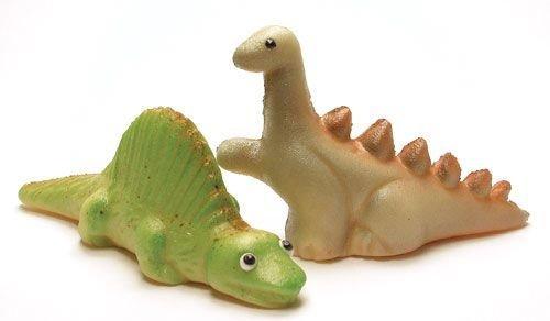 Marzipan Dinosaurier, grün + grau - 2 x 60 g