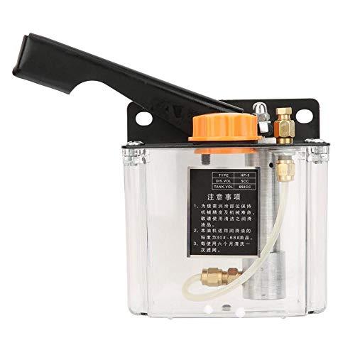 Hilitand Pompe à Huile de Lubrification Manuelle HP-5L 650CC 4mm Pompe de Lubrification Actionnée à Droite pour Fraiseuse de Coupe de Tour de Poinçonnage CNC