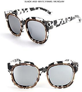 Sunglasses Child Colorful Sunglasses Fashion Children Polaroid Sunglasses Boys Girls Kids Baby Goggles UV400 Mirror Accessories for Summer Beach (Color : Silver)
