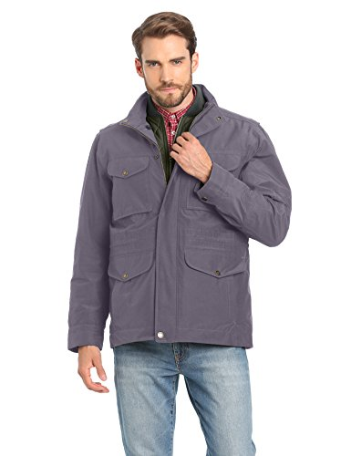 Timberland Clothing - WP Mt Clay 3 in 1 Cappotto a manica lunga Uomo, Grigio (Grey (Eiffel Tower)), L