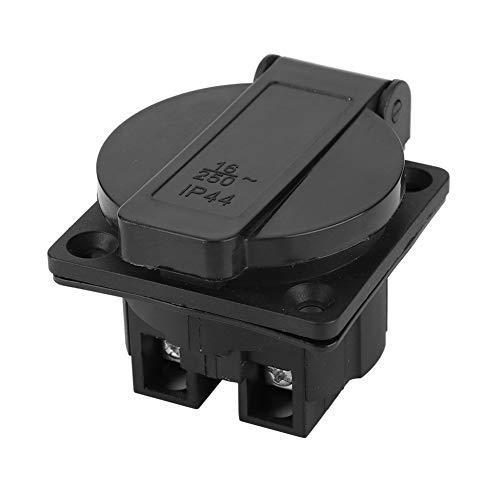 Wincal Générateur électrique appareils-Industriel étanche Noir Prise de générateur Allemand de Haute qualité en Laiton matériel 250 V 16A