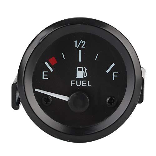 Fydun Indicador de nivel de combustible indicador de nivel de combustible del automóvil LED Digital E-1/2-F Rango con sensor de combustible 52mm Universal