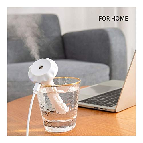 YUNGYE USB-bewegliche Luftbefeuchter Diamant-Flasche Aroma Diffuser Nebel-Hersteller for Home Office Luftbefeuchtung Abnehmbarer (Color : T3)