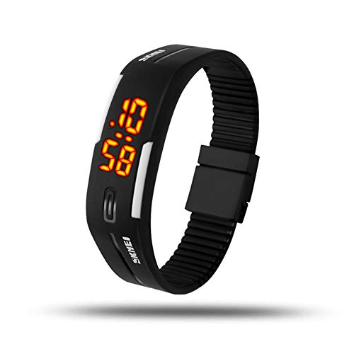 eYotto Fashion Digital Watch Waterproof Minimalist Sports Wrist Watch Rubber Bracelet Watches for Boys Girls Men Womens