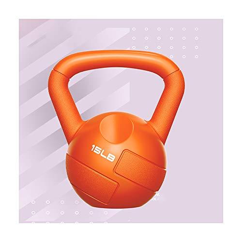 JMFHCD Kettlebell Weight Sets Mancuerna Profesional con Mango Ancho para Levantamiento De Pesas Culturismo Uso En El Hogar Perder Peso Barra con Pesas,Orange 6.8kg