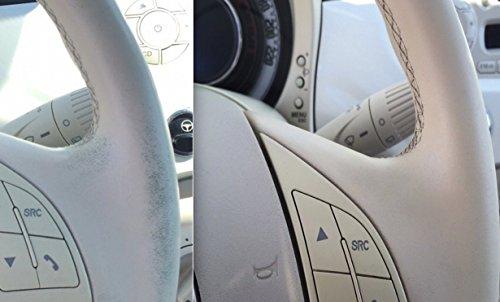 Kit de rénovation pour volant en cuir vernis retouche Ivoire 30 ml pour Nouvelle Fiat 500